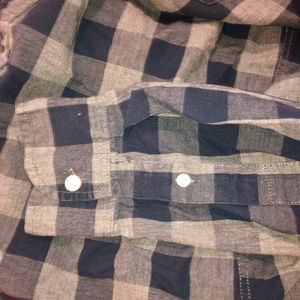 Men's Old Navy casual button down gray & navy -M